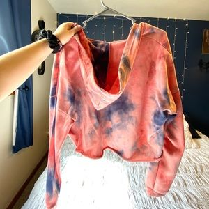 Rue21 Tops - Faux Wrap Cropped Hoodie